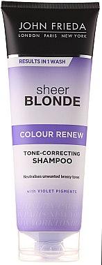 Tönungsshampoo für blondiertes Haar - John Frieda Sheer Blonde Color Renew Shampoo — Bild N1