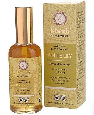 """Ayurvedisches Gesichts- und Körperöl """"Weiße Lilie"""" - Khadi — Bild N1"""