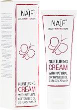Düfte, Parfümerie und Kosmetik Pflegende Gesichts- und Körpercreme mit natürlichem Baumwollsamenöl für zarte, empfindliche und extrem trockene Babyhaut - Naif Nurturing Cream
