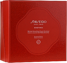 Düfte, Parfümerie und Kosmetik Gesichtspflegeset - Shiseido Benefiance Wrinkle Smoothing Cream Enriched Holiday Kit (Gesichtscreme 50ml + Gesichtsschaum 15ml + Aufweichende Gesichtscreme 30ml + Gesichtskonzentrat 10ml + Augencreme 2ml)