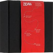Düfte, Parfümerie und Kosmetik Zew - Rasierset (Bartseife/85ml + Bartbalsam/85ml + Bartbürste)