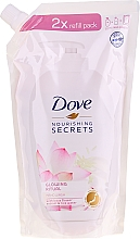 """Düfte, Parfümerie und Kosmetik Flüssige Handseife """"Lotus"""" - Dove Nourishing Secrets Glowing Ritual Hand Wash (Doypack)"""