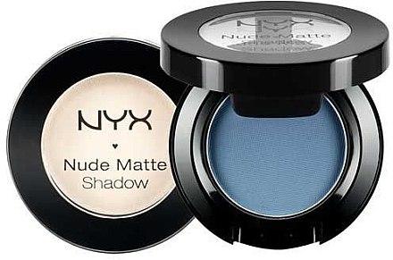 Matter Lidschatten - NYX Professional Makeup Nude Matte Shadow — Bild N2