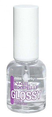 2in1 Überlack & Unterlack - Miss Sporty Nail Expert Base & Top Coat — Bild N1
