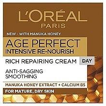 Düfte, Parfümerie und Kosmetik Tagescreme für trockene und reife Haut mit Manuka-Honig-Extrakt - L'Oreal Age Perfect Intensive Re-nourish Rich Repairing Cream