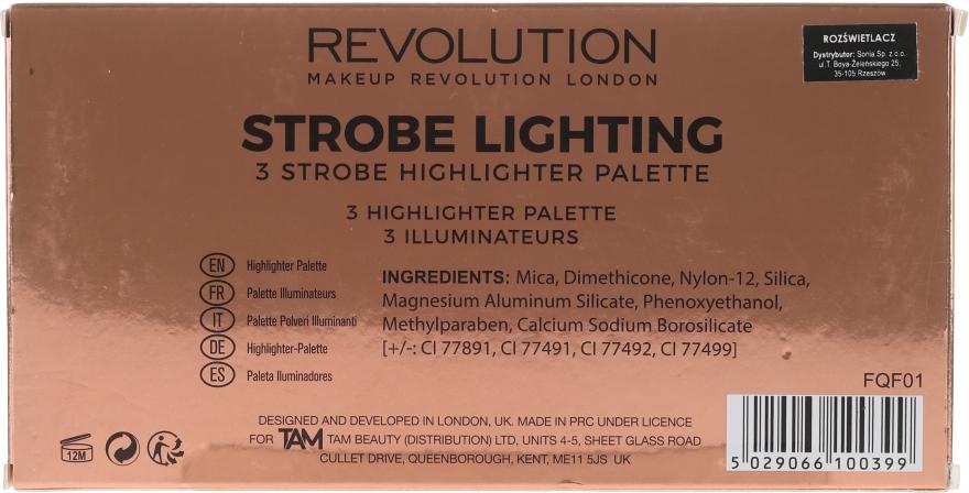 Highlighter-Palette - Makeup Revolution 3 Strobe Highlighter Palette — Bild N3