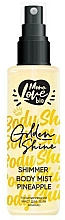 Düfte, Parfümerie und Kosmetik Körpernebel mit Ananas - MonoLove Bio Shimmer Body Mist Pineapple Golden Shine