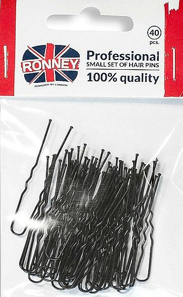 Haarnadeln schwarz 40 St. - Ronney Professional — Bild N1