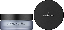 Düfte, Parfümerie und Kosmetik Hydrogel-Augenpatches mit Seegurke - BeauuGreen Sea Cucumber & Black Hydrogel Eye Patch Big Size
