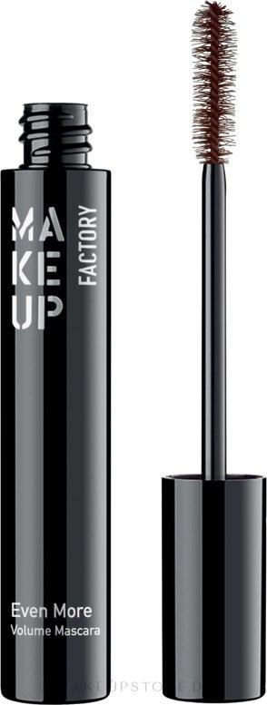 Wimperntusche - Make Up Factory Mascara Even More Volume — Bild 06 - Terra Brown