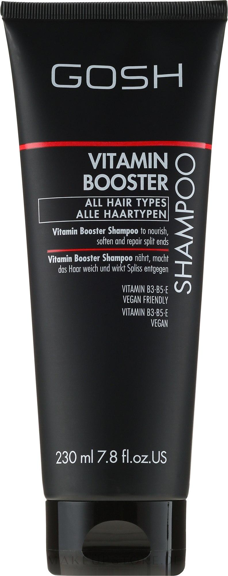 Nährendes Shampoo für strapaziertes Haar mit Vataminen - Gosh Vitamin Booster — Bild 230 ml