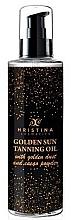 Düfte, Parfümerie und Kosmetik Sonnenbräunungsöl mit goldenem Staub - Hristina Cosmetics Golden Sun Tanning Oil
