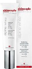Düfte, Parfümerie und Kosmetik Aufhellende Gesichtsschutzcreme mit CM-Glucan - Skincode Essentials Alpine White Brightening Protective Shield SPF50 PA+++