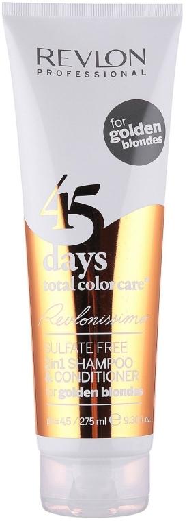 2in1 Shampoo und Conditioner für warme Blondtöne - Revlon Professional Revlonissimo 45 Days Golden Blondes 2in1 — Bild N1