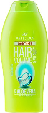 Haarspülung mit Aloe vera-Extrakt für Volumen - Hristina Cosmetics Hair Volume & Vitality With Aloe Vera Conditioner — Bild N1