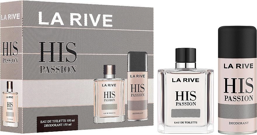 La Rive His Passion - Duftset (Eau de Toilette/100ml + Deodorant/150ml)