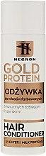 Düfte, Parfümerie und Kosmetik Haarspülung mit Milchprotein für gefärbtes und geschädigtes Haar - Hegron Gold Protein Hair Conditioner