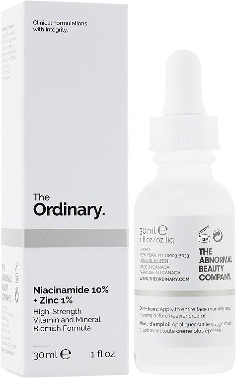 Gesichtsserum mit 10% Niacinamid und 1% Zink - The Ordinary Niacinamide 10% + Zinc PCA 1%