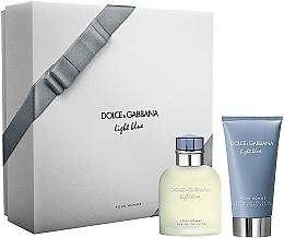 Düfte, Parfümerie und Kosmetik Dolce & Gabbana Light Blue Pour Homme - Duftset (Eau de Toilette 75ml + After Shave Balsam 75ml)
