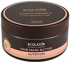 Düfte, Parfümerie und Kosmetik Nährende Haarmaske-Butter mit Mankettiöl und Sheabutter - Ecolatier Butter Mask