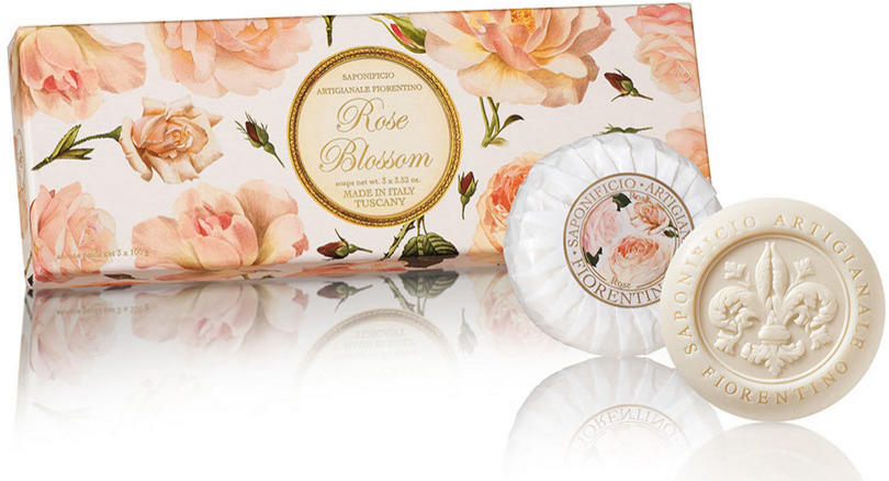 Seifenset Rose - Saponificio Artigianale Fiorentino Rose Blossom Soap — Bild N1