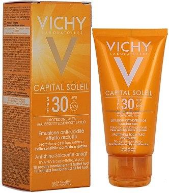 Sonnenschutzemulsion für das Gesicht SPF 30 - Vichy Capital Soleil SPF 30 Emulsion Mattifying Face Fluid Dry Touch — Bild N1