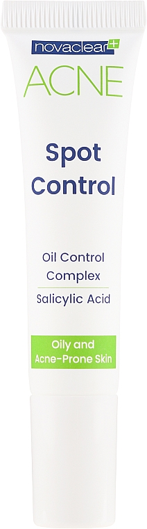 Gesichtsgel mit Salicylsäure gegen Akne - Novaclear Acne Spot Control — Bild N2