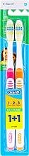 Düfte, Parfümerie und Kosmetik Zahnbürste mittel 1 2 3 Maxi Clean rosa, orange 2 St. - Oral-B 1 2 3 Maxi Clean 40 Medium