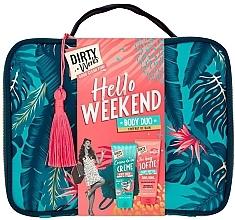 Düfte, Parfümerie und Kosmetik Körperpflegeset - Dirty Works Hello Weekend Pamperbag (Duschgel 200ml + Körperbutter 200ml + Kosmetiktasche)