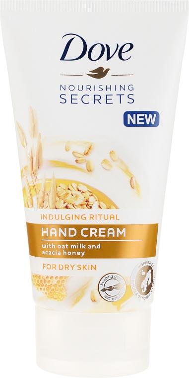 Pflegende Handcreme mit Hafermilch und Honig - Dove Nourishing Secrets Indulging Ritual Hand Cream — Bild N1