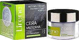 Düfte, Parfümerie und Kosmetik Mattierende Detox-Creme für Tag und Nacht mit Aktivkohle, Minzextrakt und Vitamin E - Lirene Dermo Program