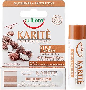 Lippenbalsam mit Sheabutter - Equilibra Karite Line — Bild N1