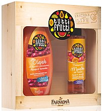 Düfte, Parfümerie und Kosmetik Körperpflegeset Papaya und Tamarillo - Farmona Tutti Frutti Papaya and Taramarillo (Duschgel 425ml + Körperspray 200ml)