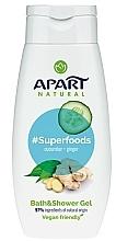 Düfte, Parfümerie und Kosmetik Bade- und Duschgel mit Gurke und Ingwer - Apart Natural Superfoods Cucumber and Ginger