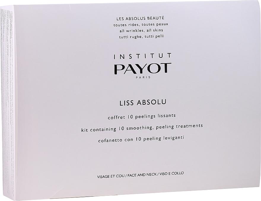 Gesichtspflegeset - Payot Liss Absolute (Gesichtspeeling 10x5g + Gesichtslotion 10x10ml + Gesichtsmaske 10x20g) — Bild N1
