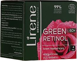 Düfte, Parfümerie und Kosmetik Regenerierende Nachtcreme für das Gesicht mit Rosenwasser und Babassuöl - Lirene Green Retinol Regenerating Night Cream 60+