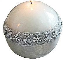 Düfte, Parfümerie und Kosmetik Dekorative Kerze in Kugelform grau 10 cm - Artman Christmas Time