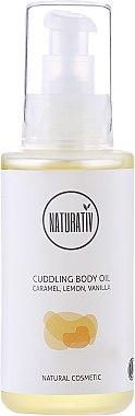 Körperöl mit Karamell, Zitrone und Vanille - Naturativ Cuddling Body Oil — Bild N1