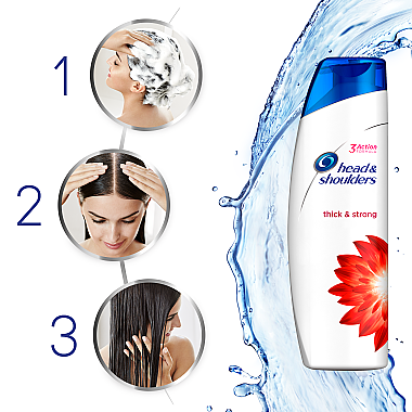 Kräftigendes Anti-Schuppen Shampoo - Head & Shoulders Thick & Strong — Bild N5