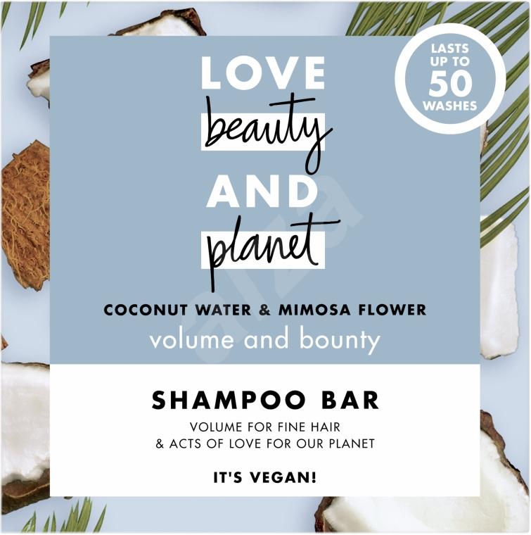 Festes Shampoo für mehr Volumen mit Kokosnusswasser und Mimosenblüte - Love Beauty And Planet Coconut & Mimosa Shampoo
