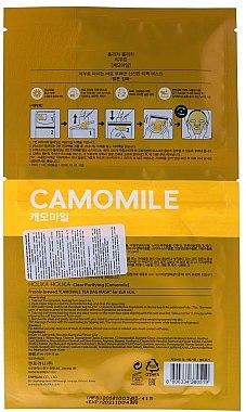 Tuchmaske mit Kamillenextrakt - Holika Holika Brewing Tea Bag Mask Camomile — Bild N2