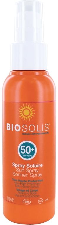 Sonnenschutzspray für Gesicht und Körper SPF 50 - Biosolis Sun Spray SPF50+ — Bild N1