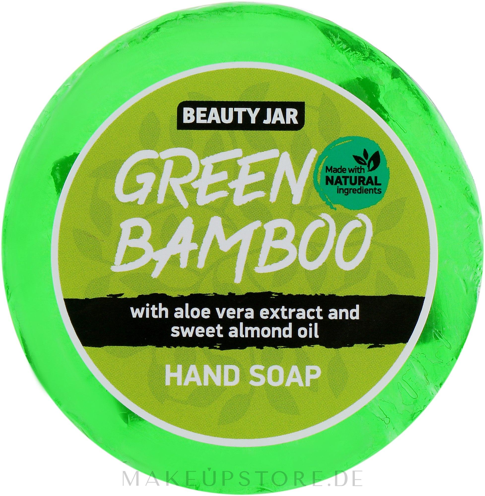 Handseife Green Bamboo mit Mandelöl und Aloe Vera Extrakt - Beauty Jar Soap — Bild 80 g