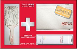 Düfte, Parfümerie und Kosmetik Haarpflegeset - Swiss Haircare Premium Haaprflege W3ks Set III (Paddlebürste + Shampoo 200ml + Kosmetiktasche)