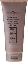 Düfte, Parfümerie und Kosmetik Beruhigende Gesichtsmaske für unreine Haut - Philip Martin's Pure Mask