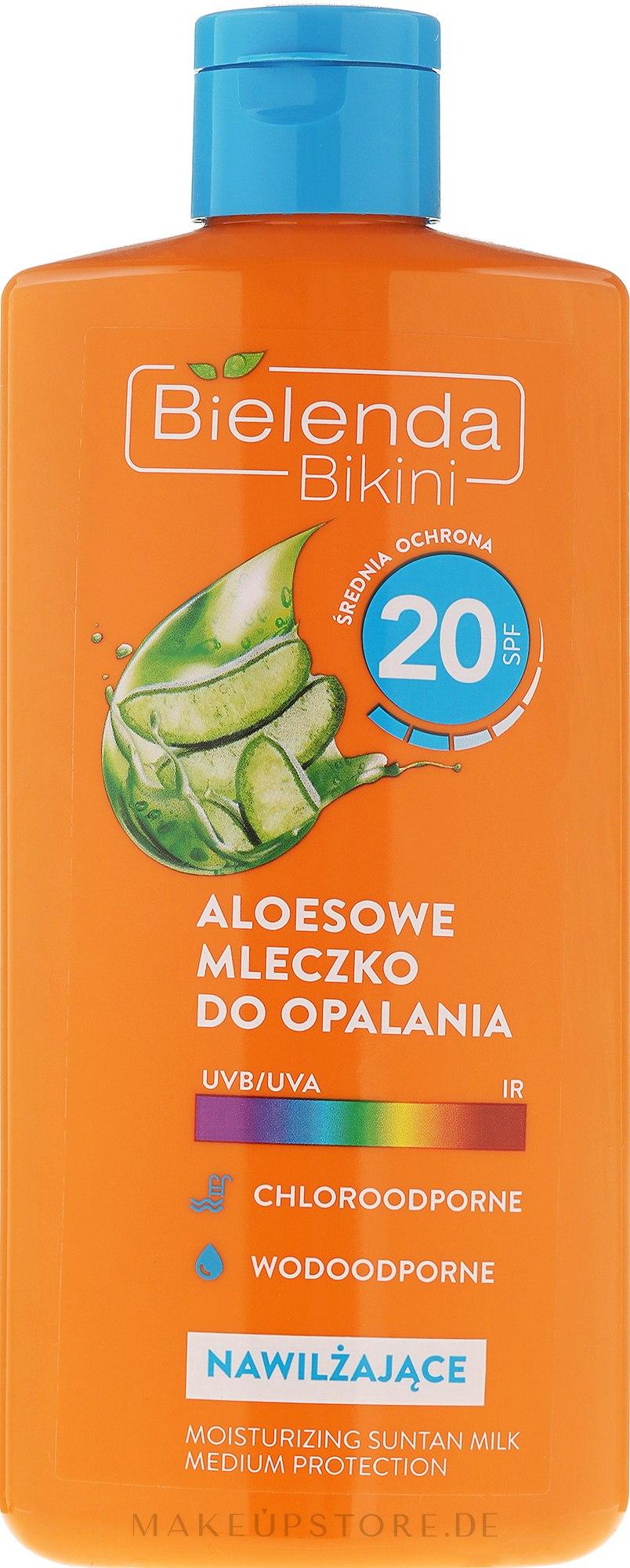 Sonnenschutzmilch mit Aloe Vera SPF20 - Bielenda Bikini Tanning Aloe Lotion SPF20 — Bild 200 ml