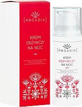 Düfte, Parfümerie und Kosmetik Pflegende Nachtcreme mit Damaszener Rosenwasser und Hyaluronsäure - Rosadia