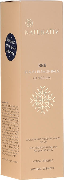Feuchtigkeitsspendender BB Balsam LSF 30 - Naturativ Beauty Blemish Balm — Bild N1