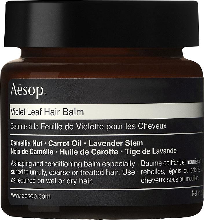 Feuchtigkeitsspendender und aufweichender Haarbalsam mit Kameliennuss, Karottenöl und Lavendelstängel - Aesop Violet Leaf Hair Balm — Bild N1
