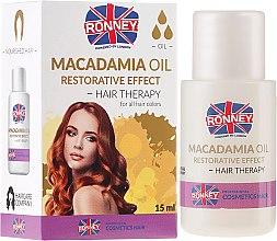 Düfte, Parfümerie und Kosmetik Stärkende Haarkur mit Macadamiaöl - Ronney Macadamia Oil Restorative Effect Hair Therapy